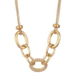 New Rivka Friedman Rolo Necklace 18K Gold Clad